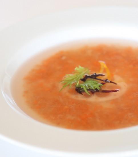 ぽん酢で簡単!根菜のおろしスープ